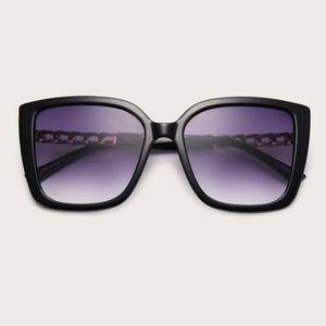 New! Sexy BOSS BABE Gradient Black Sunglasses